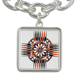 Geometric celtic cross bracelet