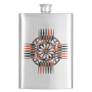 Geometric celtic cross flasks