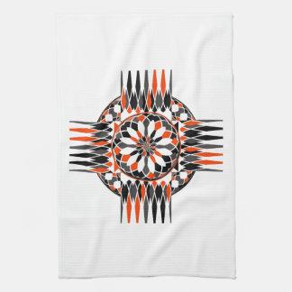 Geometric celtic cross kitchen towel