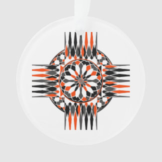 Geometric celtic cross ornament