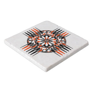 Geometric celtic cross trivet