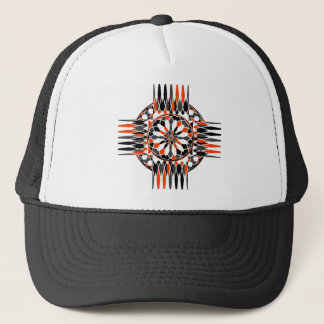 Geometric celtic cross trucker hat