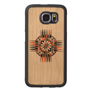 Geometric celtic cross wood phone case
