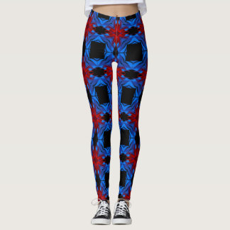 Geometric Checkered Abstract Leggings