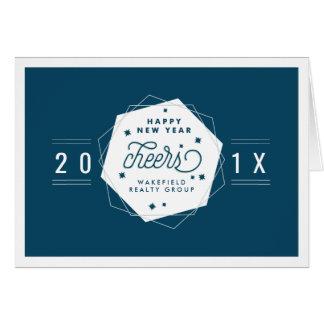Geometric Cheer   2017 New Year Corporate Card