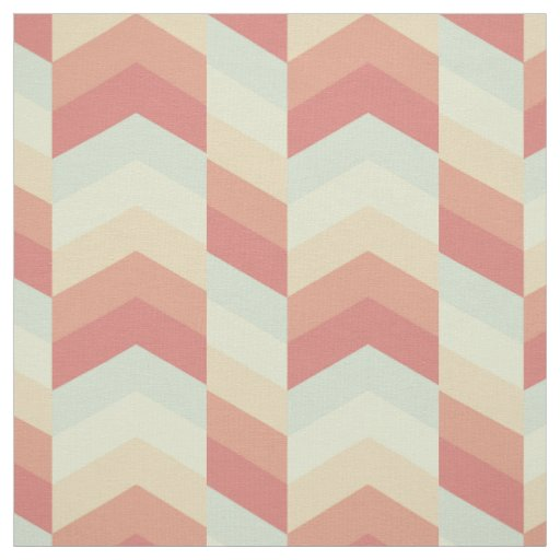 Geometric Chevron Pattern Cool Pastel Colours Fabric
