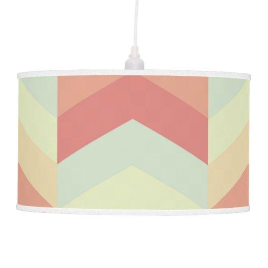 Geometric Chevron Pattern Cool Pastel Colours Pendant Lamp