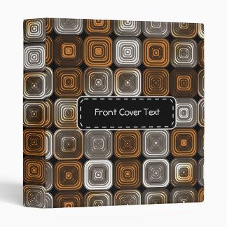 Geometric chocolate pattern binder