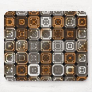 Geometric chocolate pattern mouse pad