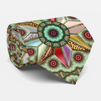 Geometric Christmas Star Design Tie