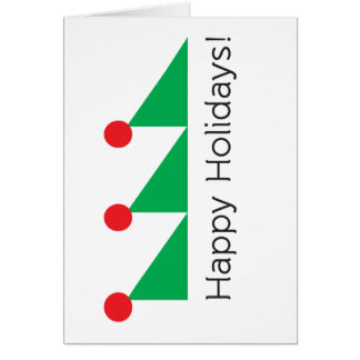 Geometric Christmas Tree Card