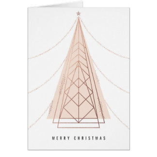 Geometric Christmas Tree Card in Pink