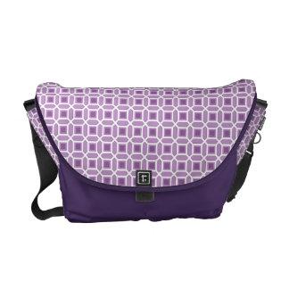 Geometric Circle Pattern Purple Commuter Bag