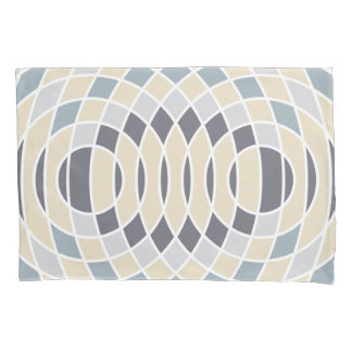 Geometric Circles Abstract Interference Pillowcase