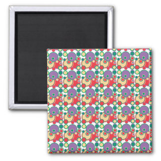 Geometric Circles Abstract Square Magnet
