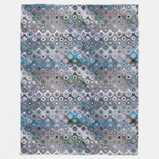 Geometric Circles Pattern Fleece Blanket