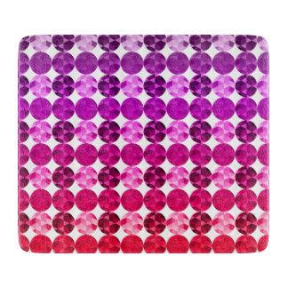 Geometric Circles Purple Pink Red Ombre Pattern Cutting Board
