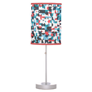 Geometric Circles & Squares Pattern Table Lamp