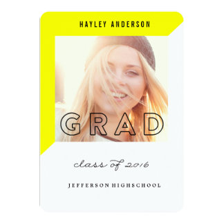 GEOMETRIC CLASS OF 2016 GRADUATION Invitation