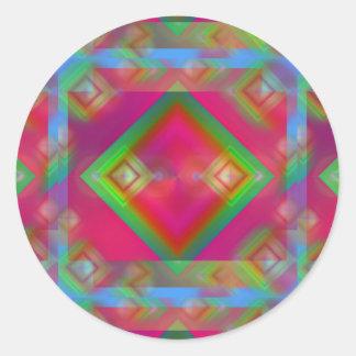 Geometric Classic Round Sticker
