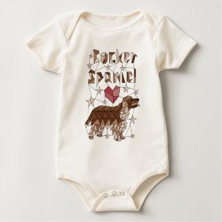 Geometric Cocker Spaniel Baby Bodysuit