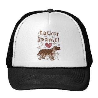 Geometric Cocker Spaniel Trucker Hat
