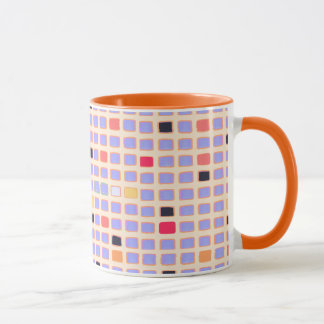 GEOMETRIC COFFEE MUG WITH Squares Mondrian Style