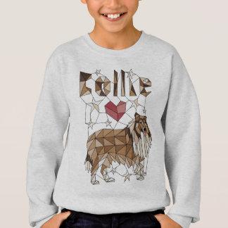 Geometric Collie Sweatshirt
