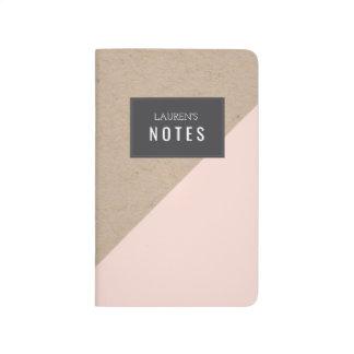 Geometric Color Block Personalised Notebook