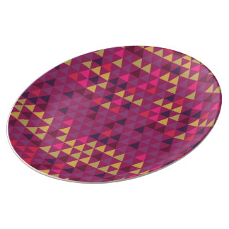 GeoMetric Color Triangles Plate
