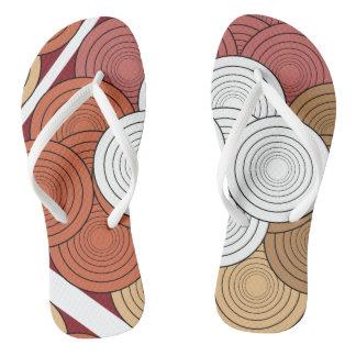 geometric colored straps flip flops