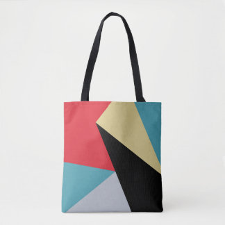 Geometric Colorful Modern Abstract Tote Bag