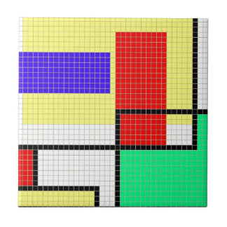 Geometric Colorful Pixel Pattern Tile