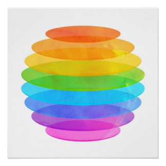 Geometric colors sphere poster