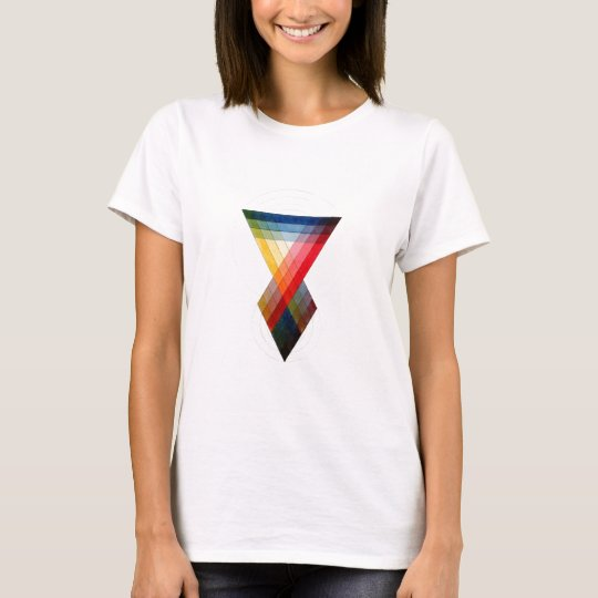 Geometric Colour Rainbow Pattern T-Shirt