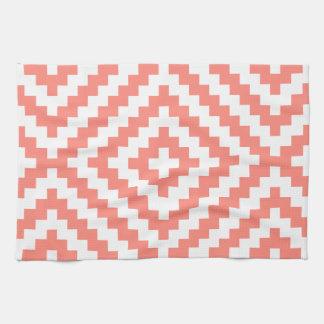 Geometric Coral Towel
