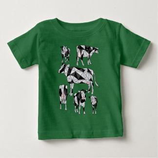 Geometric Cows Baby T-Shirt