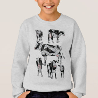 Geometric Cows Sweatshirt