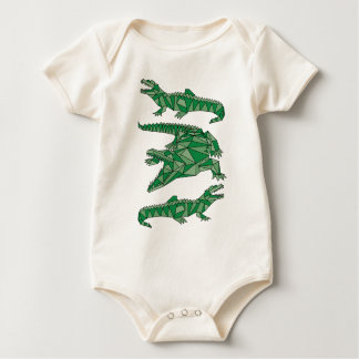 Geometric Crocodiles Baby Bodysuit
