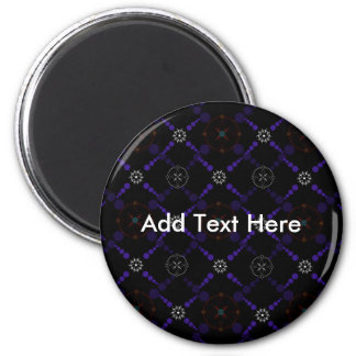 Geometric Crop Circles 2 Inch Round Magnet