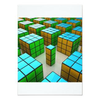 Geometric Cubes Invitations