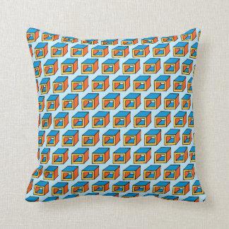 Geometric Cubes Throw Pillow