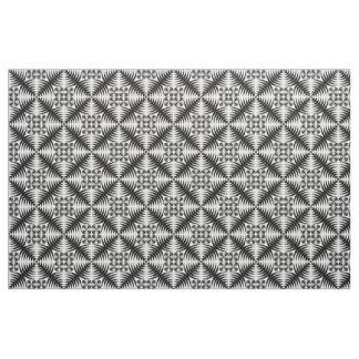 Geometric damask fabric