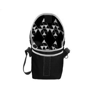 Geometric Dark Mini Messenger Bag Inside Print