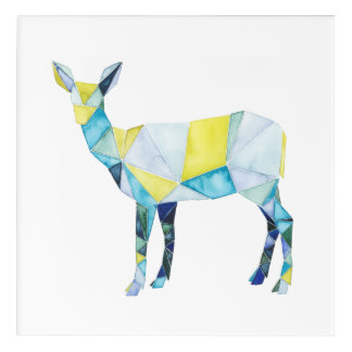 Geometric Deer Animal Acrylic Print
