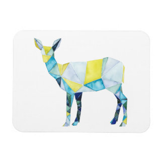 Geometric Deer Animal Magnet
