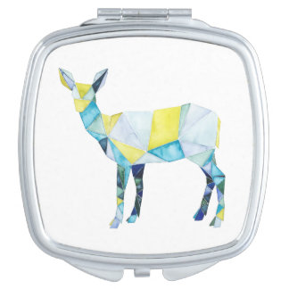 Geometric Deer Animal Travel Mirrors