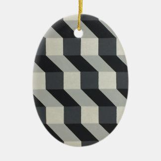 Geometric Design - By Dominic Joyce Ceramic Ornament