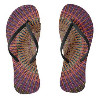 Geometric design custom Adult, Slim Straps Flip Flops