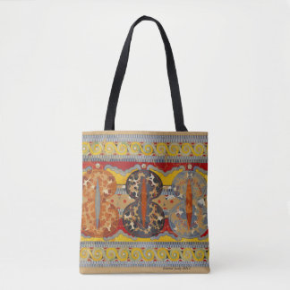 geometric design, fall colours, stunning tote bag